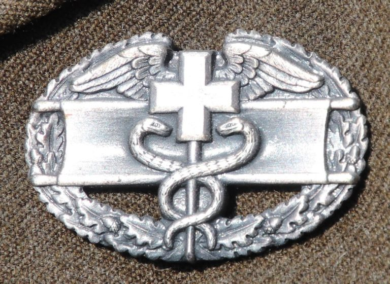 Combat Medical Badge US Army WW2