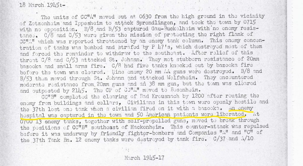 4th AD AAR 18 March 1945