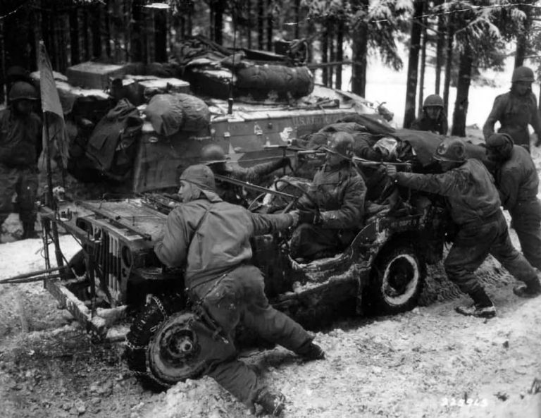 Medical Detachment 51st Armored Infantry Battalion Jeep - Battle of the Bulge
