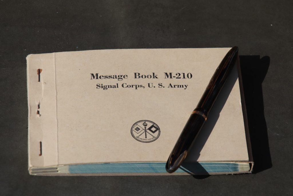 Messages book US Army WW2