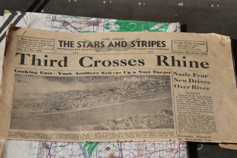 Stars and Stripes Rhine Crossing Third Army March 1945