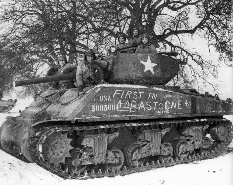 Cobra King tank in Bastogne 1944