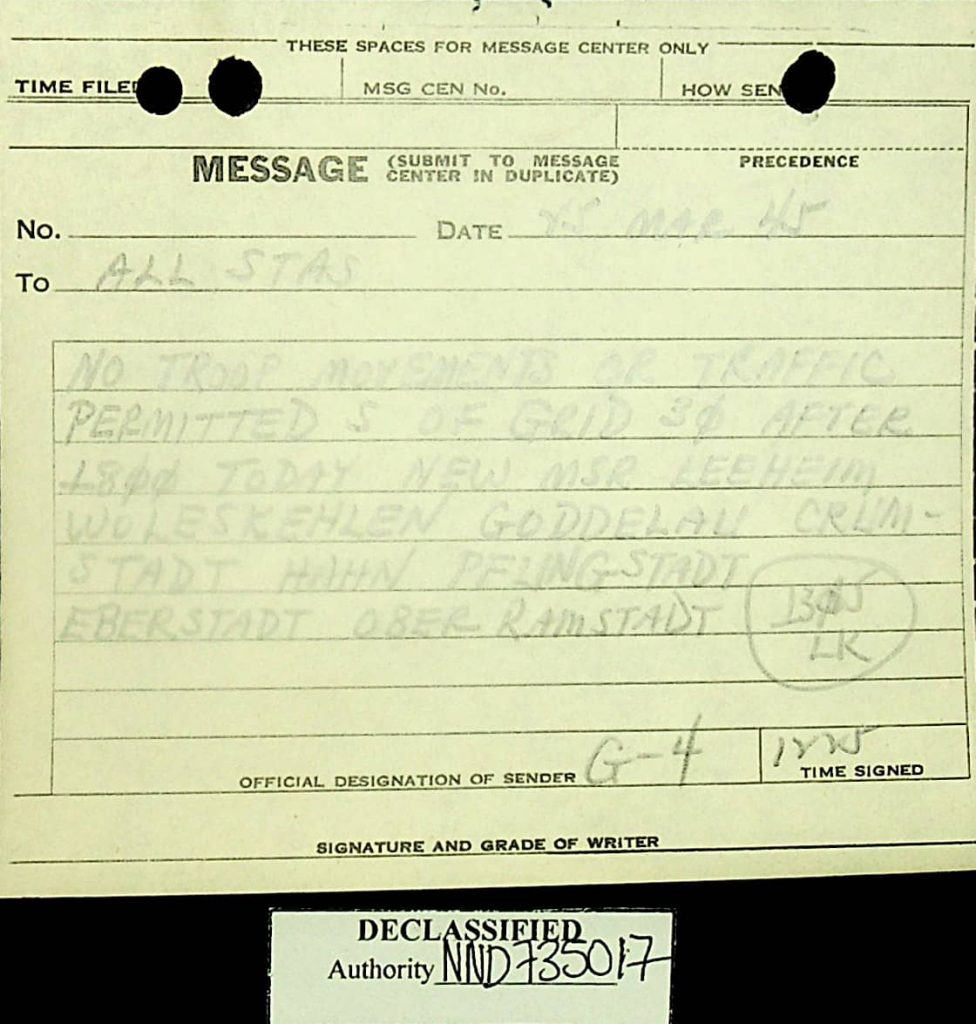 Message march 1945