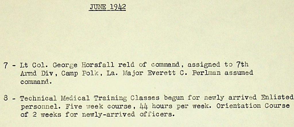 46th AMB history June 1942