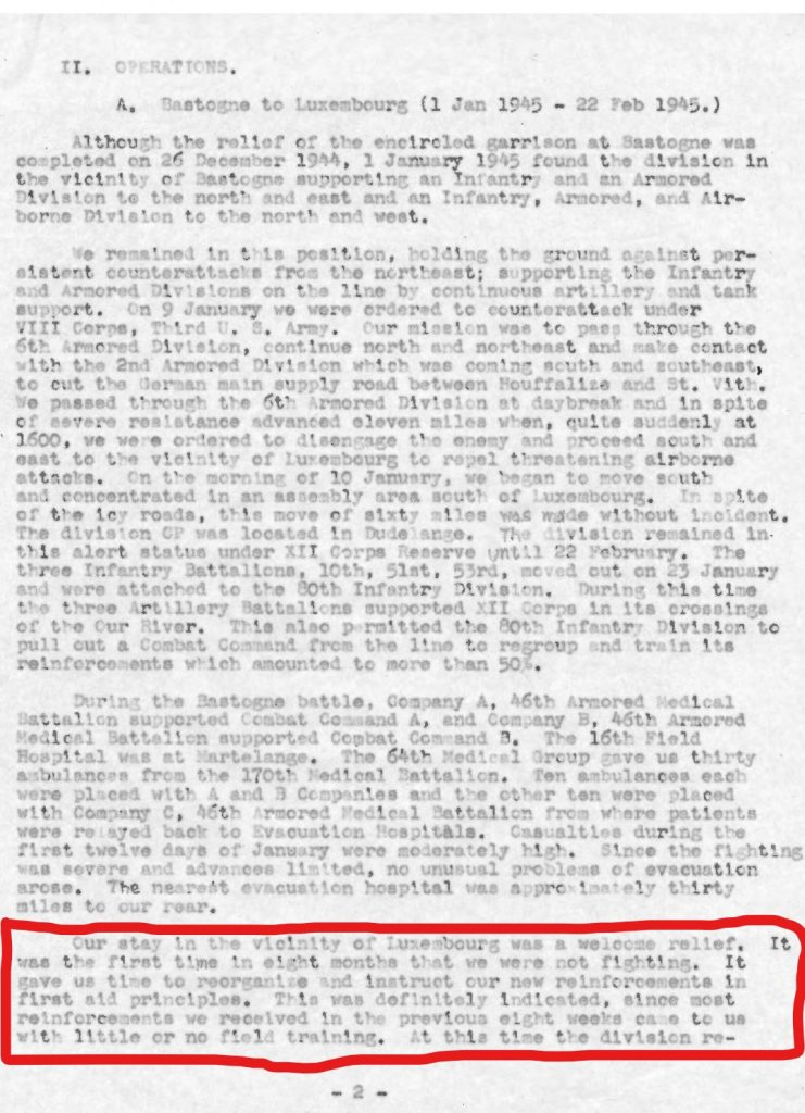Activity Report, Morris Abrams 1945