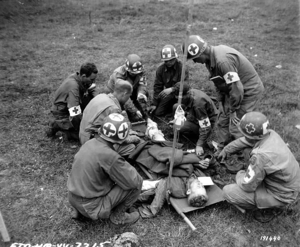 Medics red crosses