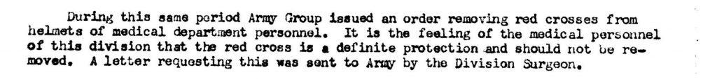 Division Surgeon Journal OCt 31st,1944
