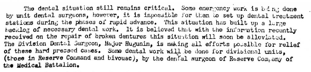 Division Surgeon Journal 1944-DC 1