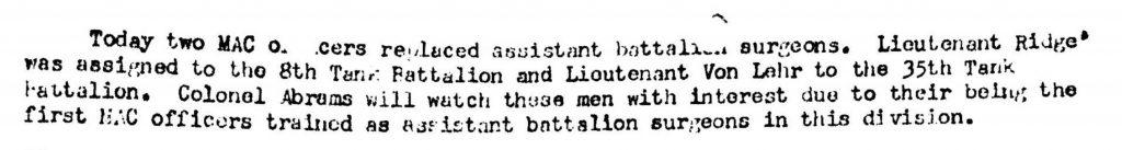 Division Surgeon Journal 1944 MACS 2