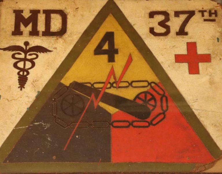 Battalion Aid Station Sign 37th Tank Battalion