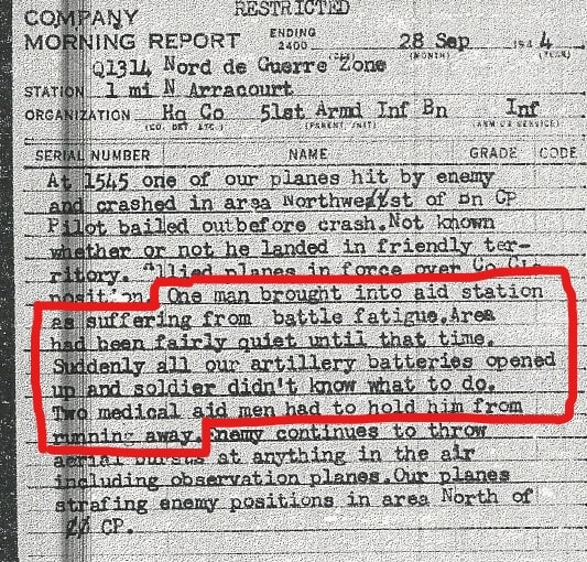 Sept 1944 HQ Co 51st AIB Morning Reports-CE