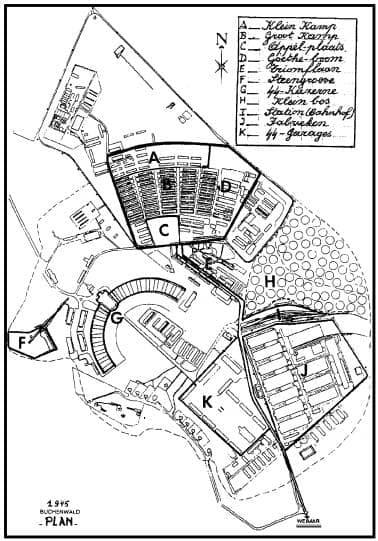 Map Buchenwald