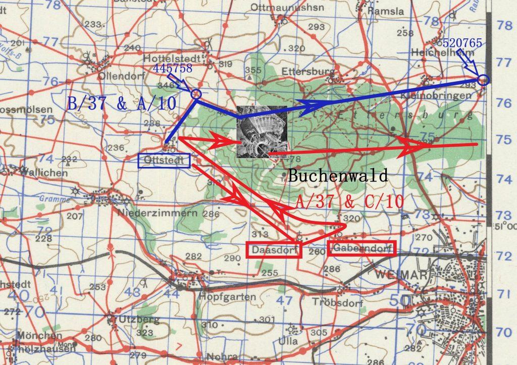 Erfurt map Buchenwald