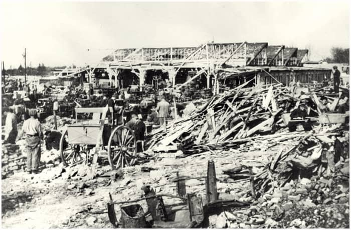 Gustloff Werke after bombing