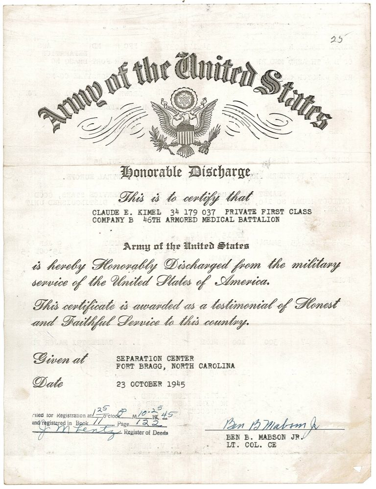 Kimel Honorable Discharge.2