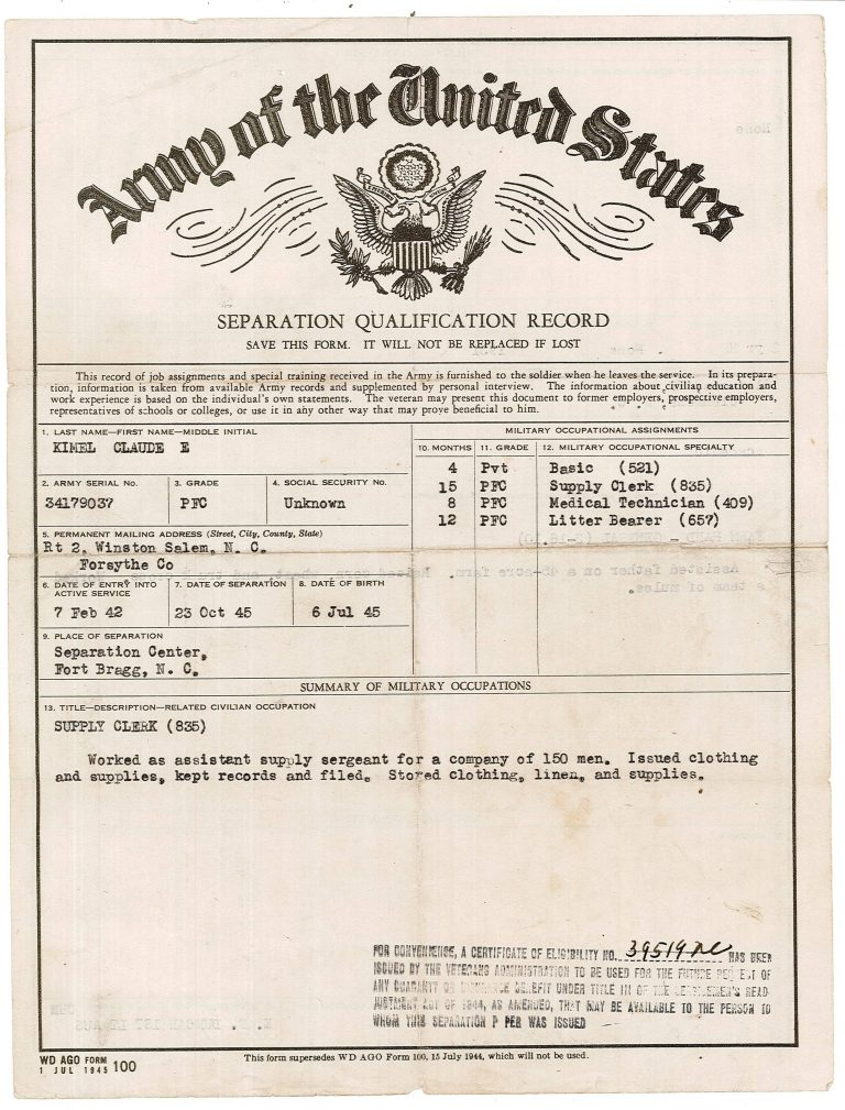 Kimel Separation Record.1