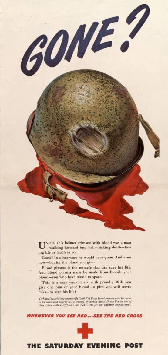 Red Cross donor poster