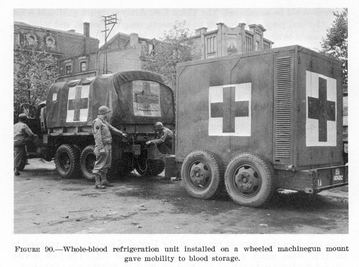 Blood truck and trailer